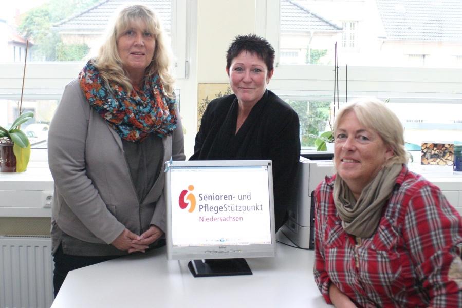 Das Team des SPN im Landkreis Nienburg/Weser (v.li.): Silke Grelle, Andrea Mänz und Andrea Braunack (Fachdienstleitung Altenhilfe).