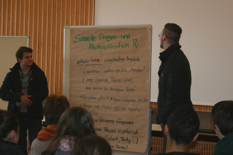 """Wertvolle Hinweise und Wünsche von den Jugendlichen selbst beim Workshop """"Sinnvolle Alkohol- und Drogenprävention""""."""