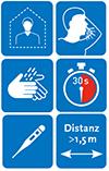 """Piktogramm """"Häusliche Isolierung bei bestätigter COVID-19-Erkrankung"""" des RKI©Robert Koch Institut"""