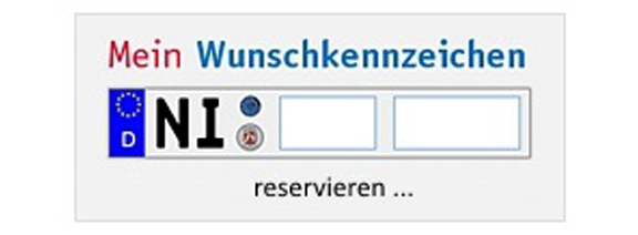 Wunschkennzeichen online©Landkreis Nienburg/Weser