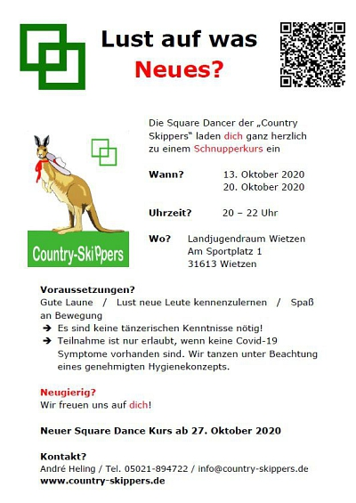 Square Dance Schnupperabend bei den Country Skippers